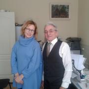 2014 г. На фото: Алена Бабенко (начинала учиться на ФПМК) и Горцев А.М.
