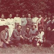 Июнь 1987 г. Группа 1123. На фото: Радюк Л.Е., Терпугов А.Ф., Туренова Е.Л., Горцев А.М.