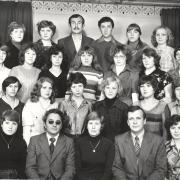 Сентябрь 1980 г. Группа 1161 с Горцевым А.М. и Рыжаковым А.П.