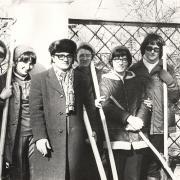 1977 год. Субботник. На фото: Катаева С.С., Горцев А.М.