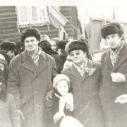 1980 г. На демонстрации. На фото: Терпугов А.Ф., Горцев А.М.