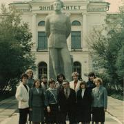 1986 г. Группа 1111. На фото: Колосова О.А., Василевская Т.П., Нежельская Л.А., Горцев А.М.